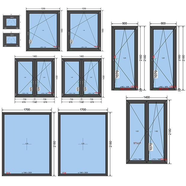 Triple glazed PVC windows - energy-efficient window set