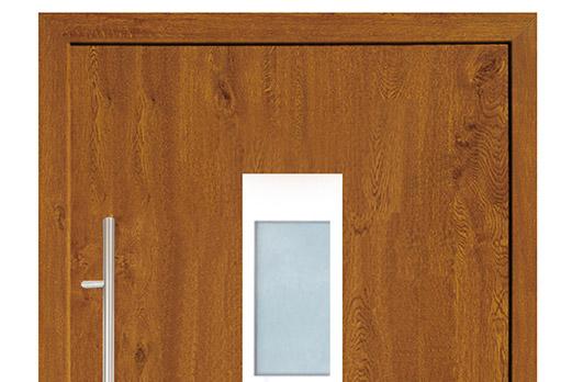 Drzwi PCV z panelem nakładkowym