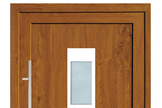 Drzwi PCV z panelem wsadowym