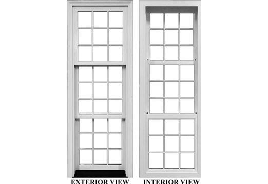 sash windows exterior and interior view