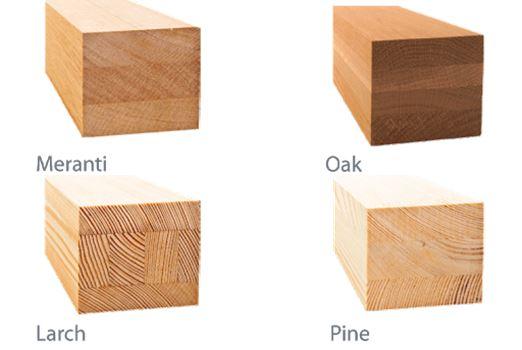 typy drewna w oknach sash